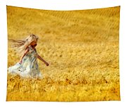 Girl With The Golden Locks Tapestry