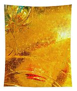 Glassworks Series-gold I Tapestry