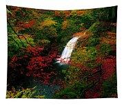 Glenoe Waterfall And Glen, Co Antrim Tapestry