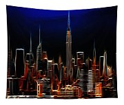 Glowing New York Tapestry