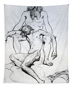 God The Father And God The Son Tapestry