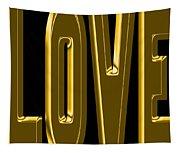 Gold Love Tapestry