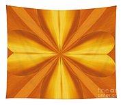Golden 4 Leaf Clover  Tapestry
