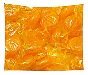 Golden Butterscotch Square Tapestry