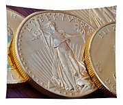 Golden Coins II Tapestry