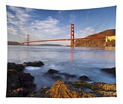 Golden Gate At Dawn Tapestry