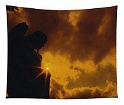 Golden Light Silhouette Tapestry