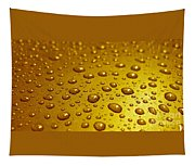 Golden Water Drops. Business Card. Invitation Etc. Tapestry