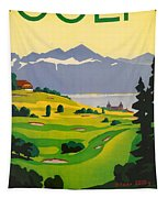 Golfing In Lausanne Tapestry