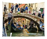 Gondolas Galore Tapestry