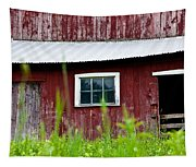 Good Ole Red Barn Tapestry
