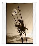 Goose At Dusk - Sepia Tapestry