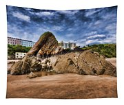 Goscar Rock Tenby 4 Painted Tapestry