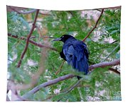Grackle On A Branch Tapestry