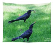 Grackles In The Yard Tapestry
