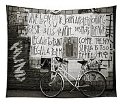 Graffiti And Bicycle Tapestry