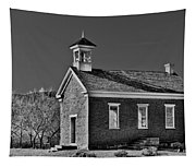 Grafton Schoolhouse - Bw Tapestry