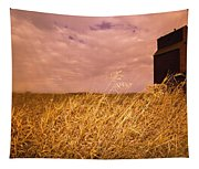 Grain Elevator And Crop Tapestry