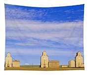 Grain Elevators, Mossleigh, Alberta Tapestry