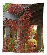 Grape Leaves On Columns Tapestry