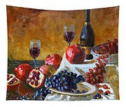 Grapes And Pomgranates Tapestry