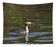 Great Crested Grebe With Breakfast Tapestry
