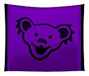Greatful Dead Dancing Bear In Purple Tapestry