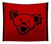 Greatful Dead Dancing Bear In Red Tapestry