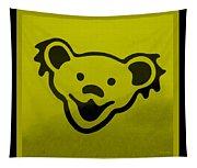 Greatful Dead Dancing Bear In Yellow Tapestry