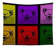 Greatful Dead Dancing Bears In Multi Colors Tapestry