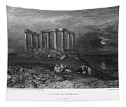 Greece: Cape Sounion, 1832 Tapestry