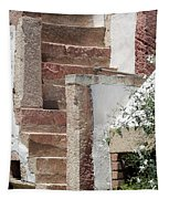 Greek Staircase Patmos Tapestry