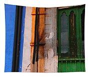 Green Door Tapestry