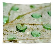 Green Drops Tapestry