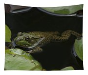 Green Frog And Lily Pads 9613 Tapestry