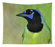 Green Jay Portrait Tapestry