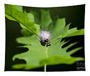 Green Oak Leaf And Flower Tapestry