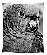 Green Parrot - Bw Tapestry