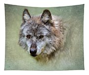 Grey Wolf Portrait Tapestry