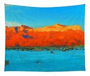 Guadalupe Mountains Sunset Tapestry