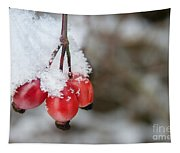 Guelder Rose In The Snow Tapestry