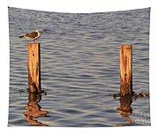 Gull At Sunset Tapestry