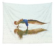 Gull Feeding On Lake Tapestry