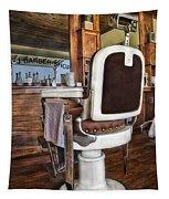 H J Barber Shop Tapestry