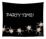 Halloween Greetings. Spider Party Series #01 Tapestry