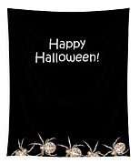 Halloween Greetings. Spider Party Series #03 Tapestry