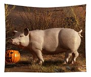 Halloween Pig Tapestry