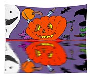 Halloween Reflections Tapestry