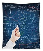 Hand Writing Science Formulas Tapestry