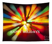 Happy Holidays Card Tapestry